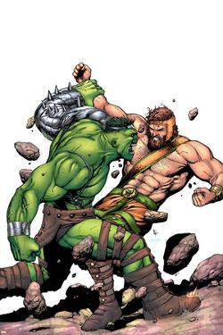 Incredible Hulk No.107 Cover: Hulk and Hercules by Gary Frank