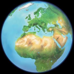 Earth Globe, Artwork by Gary Gastrolab