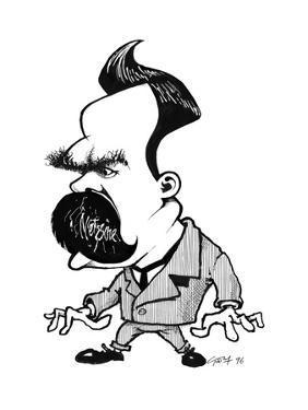 Friedrich Nietzsche, Caricature by Gary Gastrolab