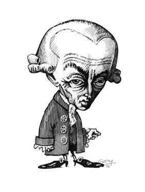 Immanuel Kant, Caricature by Gary Gastrolab