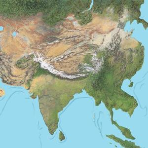Map of Asia by Gary Gastrolab
