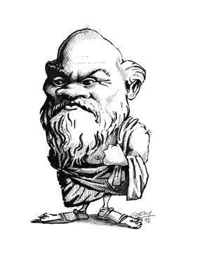 Socrates, Caricature by Gary Gastrolab