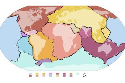 World Tectonic Plates, Global Map