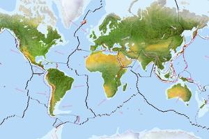 Earth's Tectonic Plates by Gary Hincks