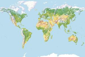 World Land Cover, Global Map by Gary Hincks