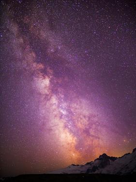 Milky Way (Constellation Sagittarius), Mt Rainier NP, Washington, USA by Gary Luhm