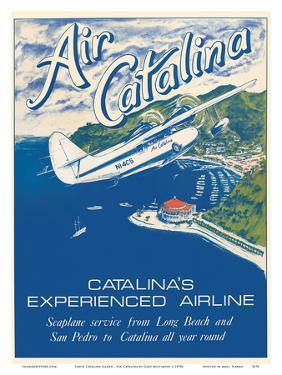 Santa Catalina Island, California - Grumann Goose Airplane - Air Catalina Airline by Gary Miltimore