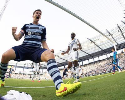 Jul 19, 2014 - MLS: Los Angeles Galaxy vs Sporting KC - Lawrence Olum, Matt Besler by Gary Rohman