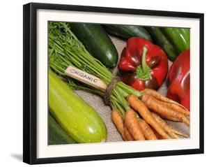 Freshly Harvested Home Grown Organic Vegetables with Organic Label, UK by Gary Smith