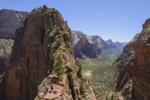 Trail to Angels Landing, Zion National Park, Utah, United States of America, North America by Gary