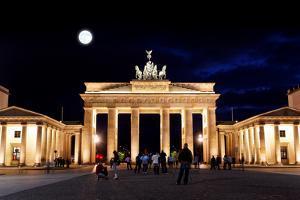 Brandenburg Gate at Night in Berlin by Gary718