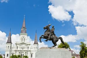 Saint Louis Cathedral and Statue of Andrew Jackson by Gary718