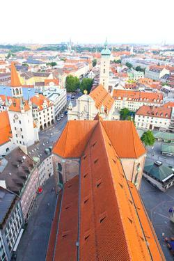 The Aerial View of Munich City Center by Gary718