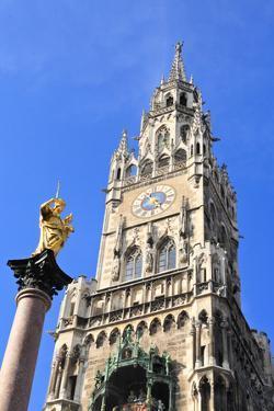 The Marienplatz and City Hall in Center Munich by Gary718