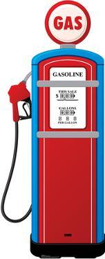 Gas Pump Lifesize Cardboard Cutout