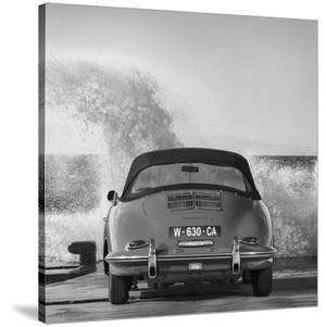 Ocean Waves Breaking on Vintage Beauties (BW detail 1) by Gasoline Images