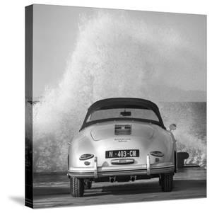 Ocean Waves Breaking on Vintage Beauties (BW detail 2) by Gasoline Images