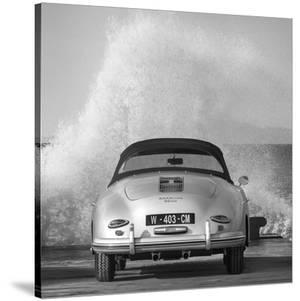 Ocean Waves Breaking on Vintage Beauties (BW detail 2) by Gasoline Images