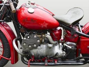 Vintage American motorbike (detail) by Gasoline Images