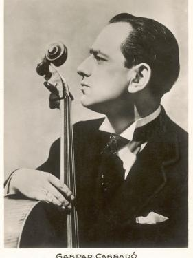 Gaspar Cassado Spanish Cellist