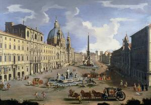 A View of the Piazza Navona in Rome by Gaspar van Wittel