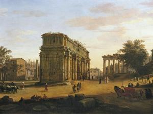 Arch of Septimius Severus in Rome by Gaspar van Wittel