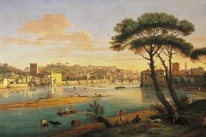 Arno at St. Nicholas Weir Bridge by Gaspar van Wittel