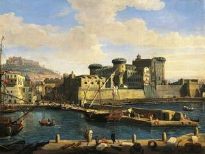 Docklands in Naples, 1702 by Gaspar van Wittel