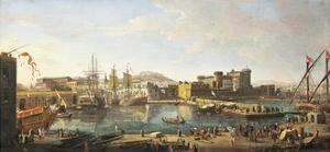 Docklands in Naples by Gaspar van Wittel