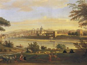 Florence from Farmhouses by Gaspar van Wittel