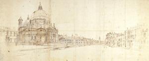 Santa Maria Della Salute and the Grand Canal, Venice by Gaspar van Wittel