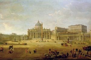 St. Peter's Basilica by Gaspar van Wittel
