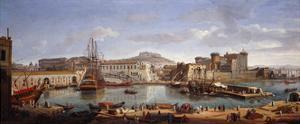 The Darsena, Naples, C.1702 by Gaspar van Wittel