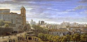 Trinità Dei Monti, Rome by Gaspar van Wittel