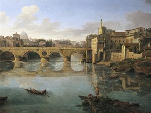 View of Ponte Sisto by Gaspar van Wittel