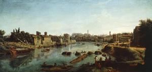 View of Tiber by Gaspar van Wittel