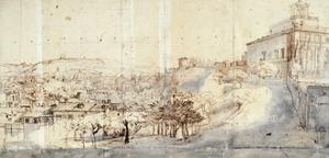 Villa Medici in Rome by Gaspar van Wittel
