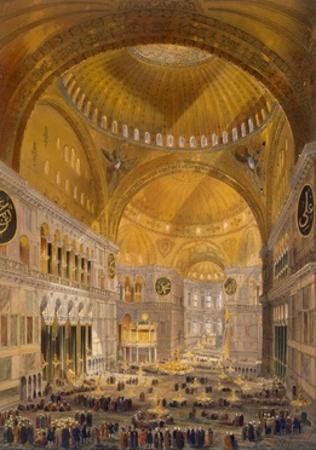 Hagia Sophia, Constantinople, 1852