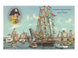 Gasparilla Entering Harbor, Tampa, Florida