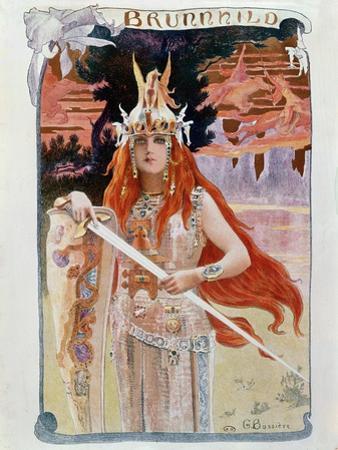 Brunnhilde, Illustration from Die Walkure by Richard Wagner by Gaston Bussiere