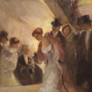 At the Opera by Gaston La Touche
