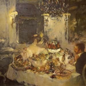 Champagne by Gaston La Touche