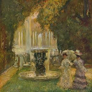 'Les Grandes Eaux A Versailles (L'Allee D'Eau)', c1908 by Gaston la Touche