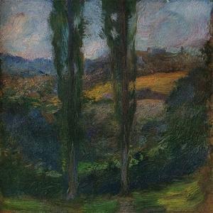 'Les Peupliers (Normandie)', c1905 by Gaston la Touche