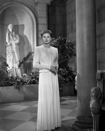 Ingrid Bergman in Whit Gown Portrait