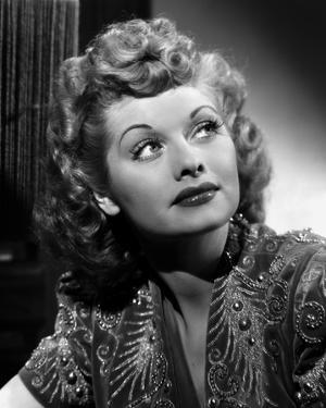 Lucille Ball Looking Up in Blouse Portrait by Gaston Longet