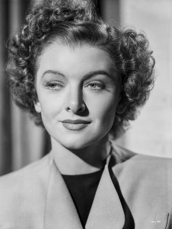 Myrna Loy Portrait in Coat