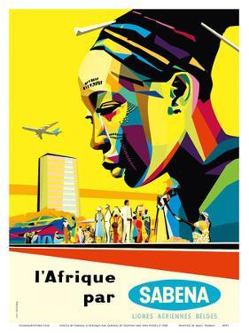 Africa by Sabena (l'Afrique par Sabena) - Sabena Belgian World Airlines by Gaston van den Eynde