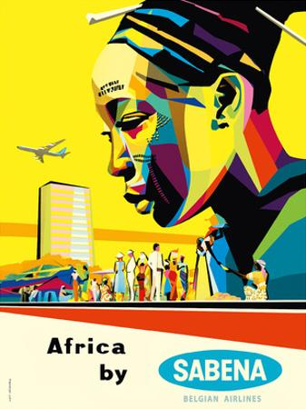 Africa by Sabena - Sabena Belgian World Airlines by Gaston van den Eynde