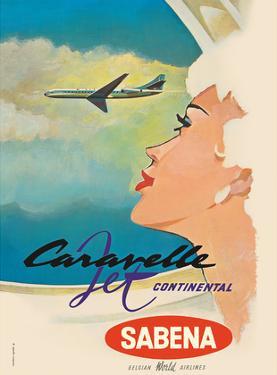 Sud Aviation Caravelle Jet - Sabena Belgian World Airlines by Gaston van den Eynde